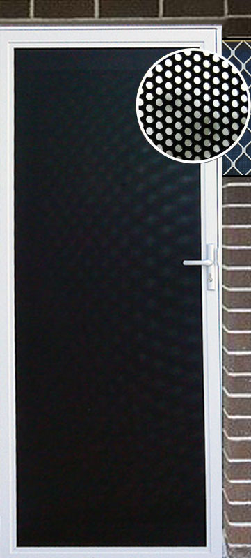 Perforated Mesh Door