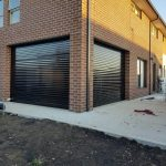 black outdoor transparent roller shutter 2