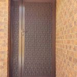brown solid security door