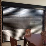 indoor view transparent roller shutter with dining