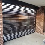inside view of transparent stripe roller shutter