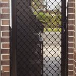 see through netted security door fly screen