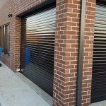 see through transparent stripe roller shutter