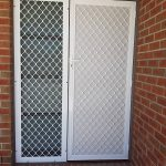 white security door net design