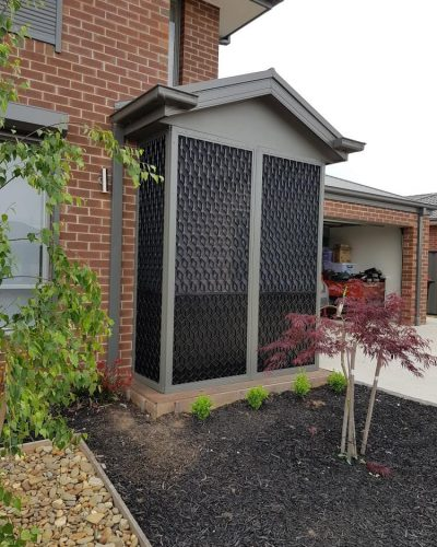 outdoor entrance grey fly screen